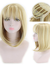 cheap -Synthetic Wig kinky Straight Asymmetrical Wig Short Blonde Synthetic Hair 7 inch Women's Best Quality Blonde