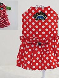 abordables -Chat Chien Manteaux Hiver Vêtements pour Chien Rouge Costume Polaire Cosplay Mariage XS S M L XL