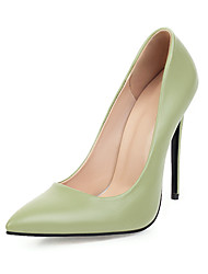cheap -Women's Heels Stiletto Heel Pointed Toe Buckle Microfiber Classic Spring &  Fall Black / Green / Light Blue / Wedding / Party & Evening
