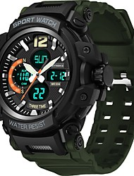 cheap -SYNOKE Digital Watch Digital Sporty Stylish Outdoor Water Resistant / Waterproof Analog - Digital Black Green / Silicone / Calendar / date / day / LCD / Noctilucent / Large Dial