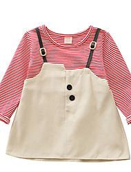 cheap -Baby Girls' Basic Striped Long Sleeve Dress Black