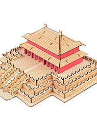 abordables -Puzzles 3D Puzzle Bâtiment Célèbre A Faire Soi-Même Bois Bois Naturel Style Chinois Enfant Unisexe Cadeau
