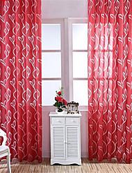 Недорогие -Современный Semi-Sheer 1 панель Прозрачный Гостиная   Curtains