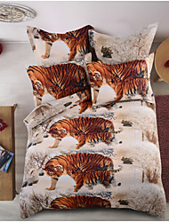 cheap -Duvet Cover Sets Animal Polyester / Polyamide Printed 4 PieceBedding Sets