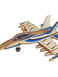 cheap -3D Puzzle Jigsaw Puzzle Wood Model Model Building Kit Plane / Aircraft Simulation DIY Wood Natural Wood Classic Kid's Unisex Gift
