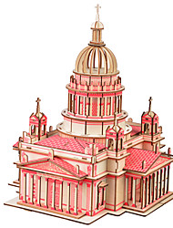 cheap -3D Puzzles Wood Model Model Building Kits Toys Famous buildings Chinese Architecture Wood Unisex Pieces
