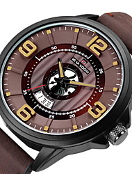 cheap -Men's Dress Watch Quartz Formal Style Sporty Stainless Steel Black 30 m Water Resistant / Waterproof Calendar / date / day Analog - Digital Casual Fashion - Brown White Red Two Years Battery Life