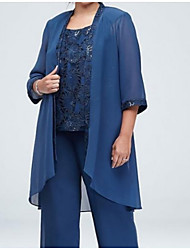 cheap -3/4 Length Sleeve Chiffon Wedding Women's Wrap With Lace Basic