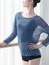 cheap -Ballet Top Split Joint Women's Training Performance Long Sleeve Modal