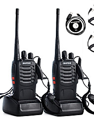 cheap -2PCS Walkie Talkie Baofeng BF-888S 2800mAh 16CH UHF 400-470MHz Baofeng 888S Ham Radio HF Transceiver Amador Portable Intercoms Super Sound QualityHeadphone  programming cable  hand microphone