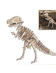 abordables -Puzzles 3D Puzzles en bois Maquettes de Bois Triceratops Dinosaure Jurassique Stegosaurus Dessin Animé 3D Mot cool / Phrase Interaction parent-enfant En bois 1 pcs Enfant Adultes Adulte Tous Garçon