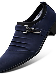 cheap -Men's Dress Shoes Fall / Winter Business / Classic Daily Party & Evening Office & Career Oxfords Canvas Wear Proof Blue / Black / Gray / Buckle