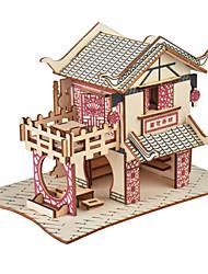 abordables -Puzzles 3D Puzzle Kit de Maquette Bâtiment Célèbre Maison Papier Enfant Jouet Cadeau