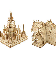 cheap -3D Puzzle Jigsaw Puzzle Model Building Kit Houses Fashion Pilar Cathedral Kids DIY 1 pcs Classic Modern Contemporary Fashion Kid's Adults' Boys' Girls' Toy Gift / Wooden Model