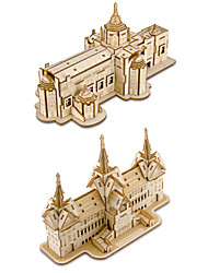 cheap -3D Puzzle Jigsaw Puzzle Model Building Kit Church DIY Simulation Wooden Classic Kid's Adults' Unisex Toy Gift
