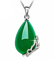 cheap -Ladies Trendy Elegant Gold Plated Emerald Solid Colored
