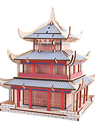 cheap -3D Puzzle Jigsaw Puzzle Wooden Puzzle Metal Puzzle Model Building Kit Wooden Model Famous buildings Chinese Architecture compatible Metalic Legoing Creative Cool DIY Chic & Modern Elegant & Luxurious