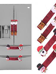 Недорогие -Рождественский холодильник дверная ручка крышки декор рождественская ткань протектор кухня микроволновая печь посудомоечная машина антистатические перчатки