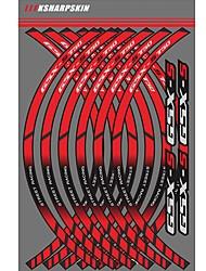 Недорогие -синий / красный наклейки общая индивидуальность мотоцикл обод колеса наклейки светоотражающие наклейки полосы для suzuki gsx-s750