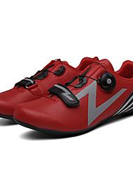 cheap -Adults' Bike Shoes Road Bike Shoes Breathable Anti-Slip Mountain Bike MTB Road Cycling Cycling / Bike Silver Green Red Men's Women's Cycling Shoes