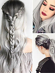 cheap -Synthetic Wig Body Wave Asymmetrical Wig Long Grey Synthetic Hair 27 inch Women's Best Quality Gray