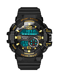 cheap -Couple's Sport Watch Digital Sporty Stylish Casual Water Resistant / Waterproof Digital black / gold Black / Rose Gold White / Two Years / Stainless Steel / Chronograph / Noctilucent / Two Years