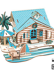cheap -Model Building Kit Wooden Model DIY House Plastics Wooden Classic Kid's Unisex Toy Gift