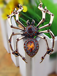 cheap -Women's Brooches Spiders Brooch Jewelry Golden Champagne Silver For Party Festival