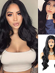cheap -Synthetic Lace Front Wig Body Wave Free Part Lace Front Wig Long Black#1B Synthetic Hair 18-26 inch Women's Heat Resistant Synthetic Easy dressing Black / Natural Hairline