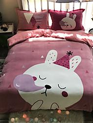cheap -Bubble Cat Cartoon Flannel Duvet Cover Set Queen Bedding Cover Set Boys Girls Duvet Comforter Cover Set Luxury Soft Queen Duvet Cover Set