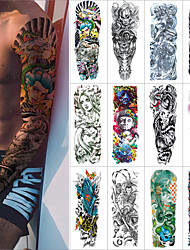 Недорогие -1 pcs Временные татуировки Защита от влаги / Безопасность / Креатив Лицо / Корпус / руки Наклейка для переноса воды Краски для рисунков на теле