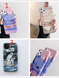 cheap -Case for Apple scene map iPhone 11 X XS XR XS Max 8 Cartoon bear blowing bubble pattern fine frosted PC material water sticker all-inclusive mobile phone case