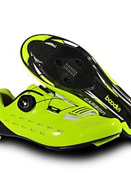 cheap -BOODUN Adults' Bike Shoes Road Bike Shoes Breathable Anti-Slip Mountain Bike MTB Road Cycling Cycling / Bike Black Green Men's Women's Cycling Shoes
