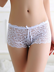 cheap -Women's Lace Brief - Asian Size Low Waist Black White Purple One-Size