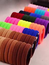 Недорогие -Жен. Резинки для волос Назначение Идти мини Классический Ткань Черный Радужный