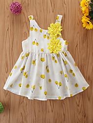 cheap -Baby Girls' Basic Fruit Sleeveless Dress White