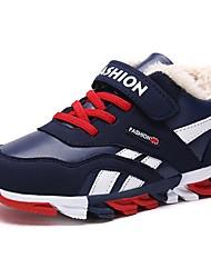 Недорогие -Мальчики Удобная обувь Полиуретан Спортивная обувь Большие дети (7 лет +) Беговая обувь Красный / Синий Зима