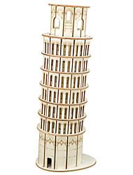 abordables -Aipin Puzzles 3D Puzzles en bois Maquettes de Bois Bâtiment Célèbre Métal Garçon Fille Jouet Cadeau / Enfant