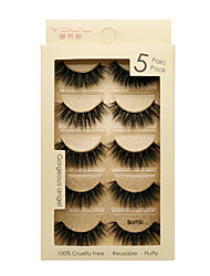 cheap -Eyelash Extensions 1 pcs Best Quality Pro Natural Safety Animal wool eyelash Plastic Date Professioanl Use Full Strip Lashes Natural Long - Makeup Daily Makeup Party Makeup Smokey Makeup Fashion