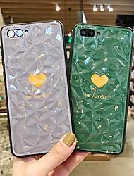 Недорогие -Кейс для Назначение Huawei Huawei Nova 4 / Huawei nova 4e / Huawei P20 Защита от удара Кейс на заднюю панель Слова / выражения / С сердцем / Однотонный ПК