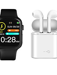 cheap -P35 Smartwatch BT Fitness Tracker with Wireless earphone Support Heart Rate/ Blood Pressure Measurement for Apple/Samsung Android Phones