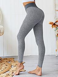 cheap -Women's High Waist Yoga Pants Winter Solid Color Black Green Blue Pink Gray Running Fitness Gym Workout Tights Leggings Sport Activewear Moisture Wicking Butt Lift Tummy Control Power Flex High