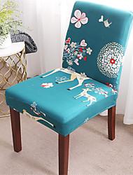 abordables -housse de chaise de cerf de bande dessinée extensible amovible lavable protecteur de chaise de salle à manger housses de décoration de maison housse de siège de salle à manger