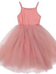 cheap -Toddler girl flower girl  lace sleeveless tulle summer vintage dress
