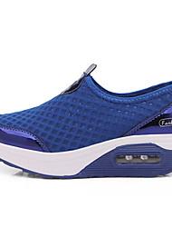 cheap -Women's Athletic Shoes Flat Heel Round Toe Mesh Fall & Winter Black / Blue / Pink