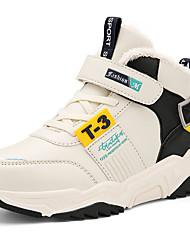 Недорогие -Мальчики Удобная обувь Синтетика Спортивная обувь Маленькие дети (4-7 лет) / Большие дети (7 лет +) Черный / Бежевый Зима