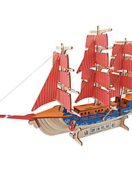 cheap -Robotime 3D Puzzle Jigsaw Puzzle Model Building Kit Warship Ship DIY Wooden Classic Kid's Adults' Unisex Boys' Girls' Toy Gift / Wooden Model