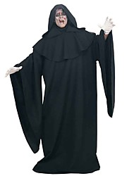 cheap -Ghost Cosplay Costume Cloak Adults' Men's Cosplay Halloween Halloween Festival / Holiday Polyster Black Men's Women's Couple's Carnival Costumes / Leotard / Onesie / Gloves / Hat