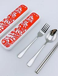 Недорогие -1 комплект Столовые наборы посуда Нержавеющая сталь Cool