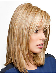 cheap -Synthetic Wig Curly Asymmetrical Wig Long Light golden Synthetic Hair 16 inch Women's Best Quality Blonde Brown